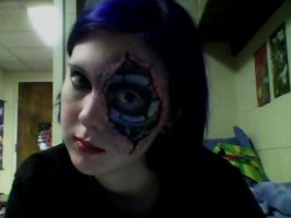 Cyborg Makeup by EmilyScissorhands