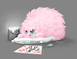 MLP FIM - Fluffle Puff by MadCookiefighter