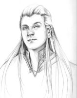 a younger Haldir by Fiannalyn