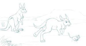 Outback Race - Collab Sketch by kohu-scribbles