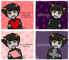Karkat Valentine Cards by QuiteRomantic
