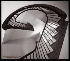 Hidcote Stairs in Monochrome by GMCPhotographics