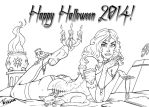 Halloween 2014 Black-White by Feugan-666