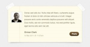 Notepaper Blog Comments PSD by ormanclark