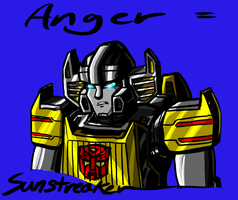 Sunstreaker is Angry by Laserbot