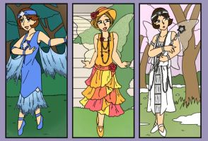 Flapper Fairies by MuseWhimsy