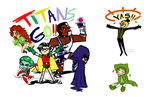 Teen Titans Bill Cipher and Nepeta Leijon by ArtisticMii