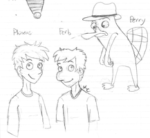 Phineas and... Ferb? by SnookumsGal