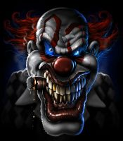 evil clown by nightrhino