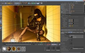 Dark Assassin Screenshot of 3d mapping Cinema 4D by hoschie