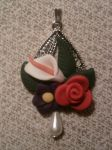 Pendant with flowers fimo by bimbalove81