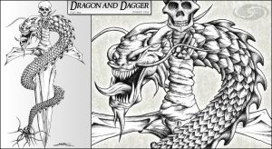 Dragon and Dagger by SKoriginals