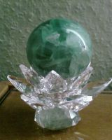 crystal with sphere by priesteres-stock