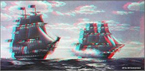 Painting by Charles Robert Patterson 2D to 3D by zippy6234