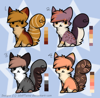 Natural + Colourful Kitty Adoptables - OPEN by Twine-Adopts
