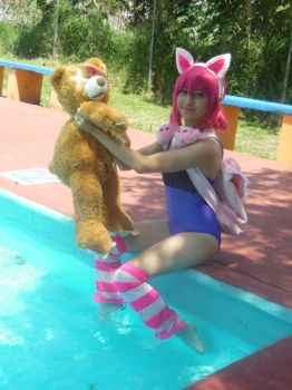 Annie Pool Party-League of Legends Cosplay 02. by brandonale