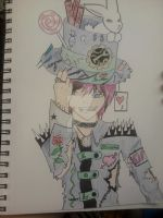 Mad Hatter dude by Sammiinsanity