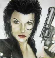 Milla Jovovich (Resident Evil) by emiely