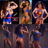 Super Beauties For Superman Day by zenx007