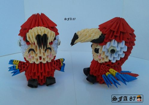 Macaw Kid Origami 3d by Sfa87