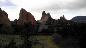 Garden of the Gods drive by by snarkydreamer