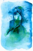 Woman in Blue by matildarose