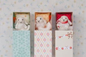 Fluffy bunnies in a matchboxes by freedragonfly