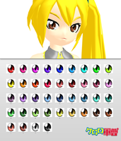 _MMD_ Keroro Gunsou eyes _DL_ by xXHIMRXx