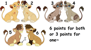 Lion Sibling Adoptables~ Closed by Demon-Juna-Adopts
