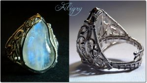 DD - Moonstone Cocktail Ring by FILIGRY