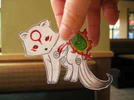 Okami Pup :Paper animal: ..... by Yuffie1972