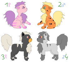 Growlithe Adoptables (Closed) by kovuification