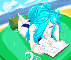 Day 26: A nice day to read outside by UltimateSketchQueen
