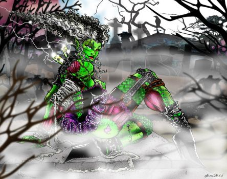 Monster Muscle Mash  The Bride color by eflores410