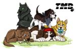 The Mighty Dogs by HazuraSinner