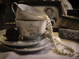 vintage tea party by Caedrus