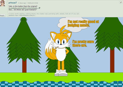 Sonic and Friends + Myself Question 54 by tmanfox7