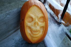 Skeletor-ish pumpkin by asconch