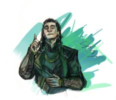 Up all night to get Loki by theTieDyeCloak