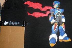 Megaman X Fanart T-shirt by KuroshiDeath