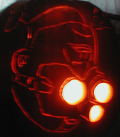 Sam Fisher Pumpkin 2008 by mediaklepto