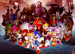 The Sonic gang by sonictoast