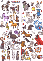 STICKERS STICKERS STICKERS by AriaDog