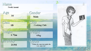 Ikehara High App-Sheet: Naoki Anami by Paka-kun