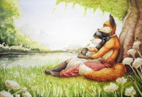 Love by the Lake by WoadedFox