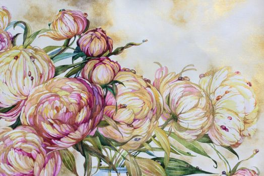 Part of peonies 2 by IrenGold