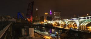 Cleveland at Night by BStadler