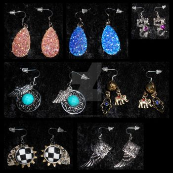 Earrings (Group 1) by FlamingCabbitProd