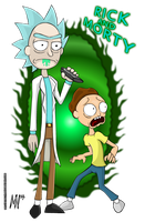 Rick And Morty by MentalMyles