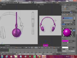 3D low poly headphones by the3dmaster11